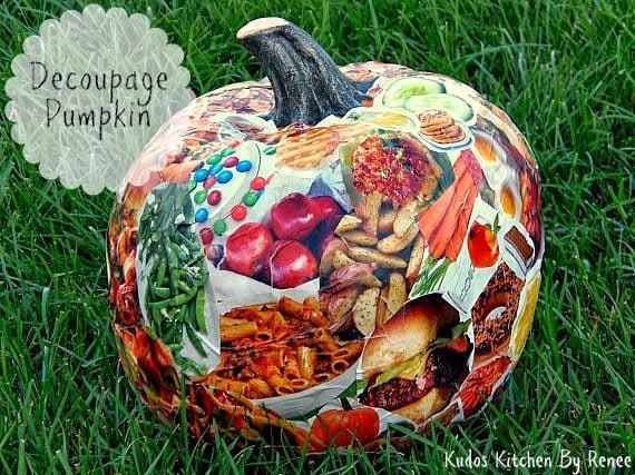 How to decoupage a pumpkin