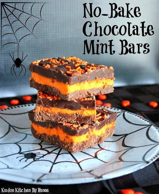 No-Bake Chocolate Mint Bars Recipe