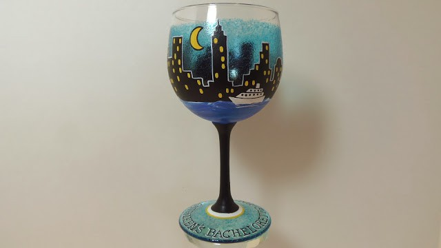 bachelorette party wine glass