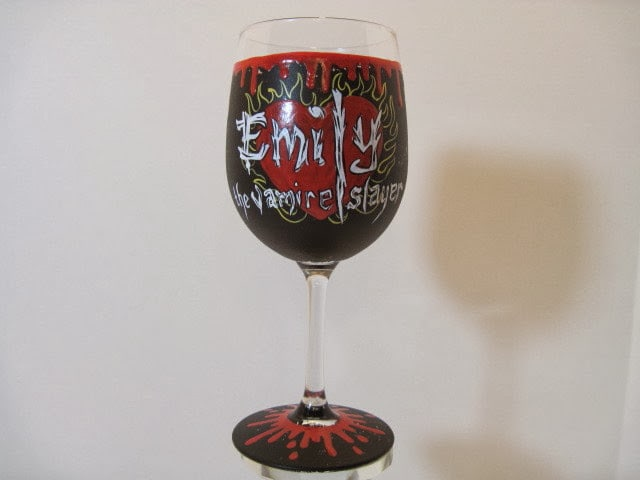 vampire slayer wine glass