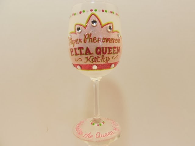 queen's crown wine glass