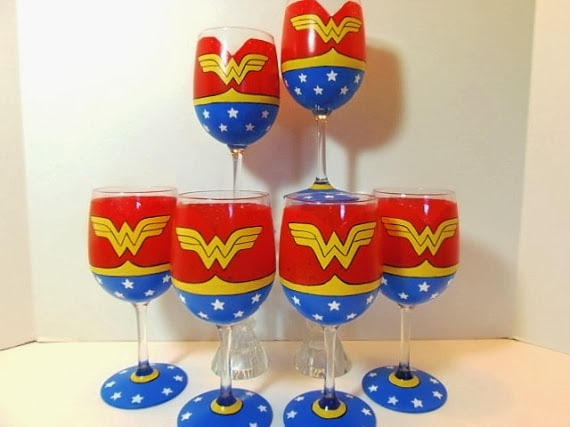 Wonder Woman Wine glass
