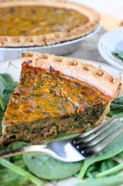 Pumpkin and Spinach Quiche Recipe