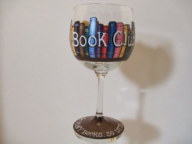 book club wine glass