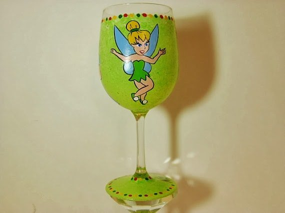 tinkerbell wine glass