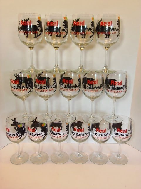 Real Housewives custom wine glasses