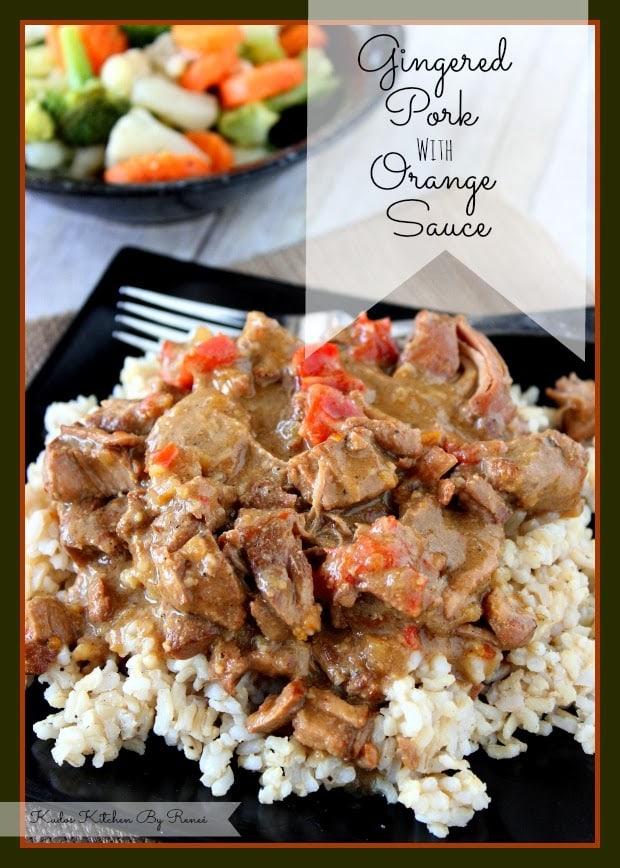 Slow Cooker Gingered Pork with Orange Sauce Recipe