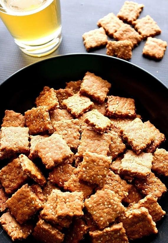 Honey Sesame Seed Cracker Recipe