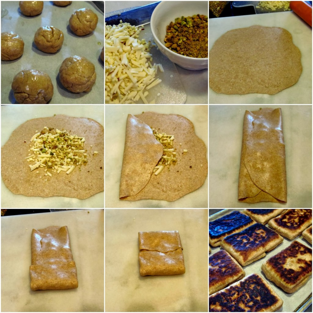 Kudos Kitchen By Renee - Rghaif Stuffed with Pistachios and Cheese Recipe
