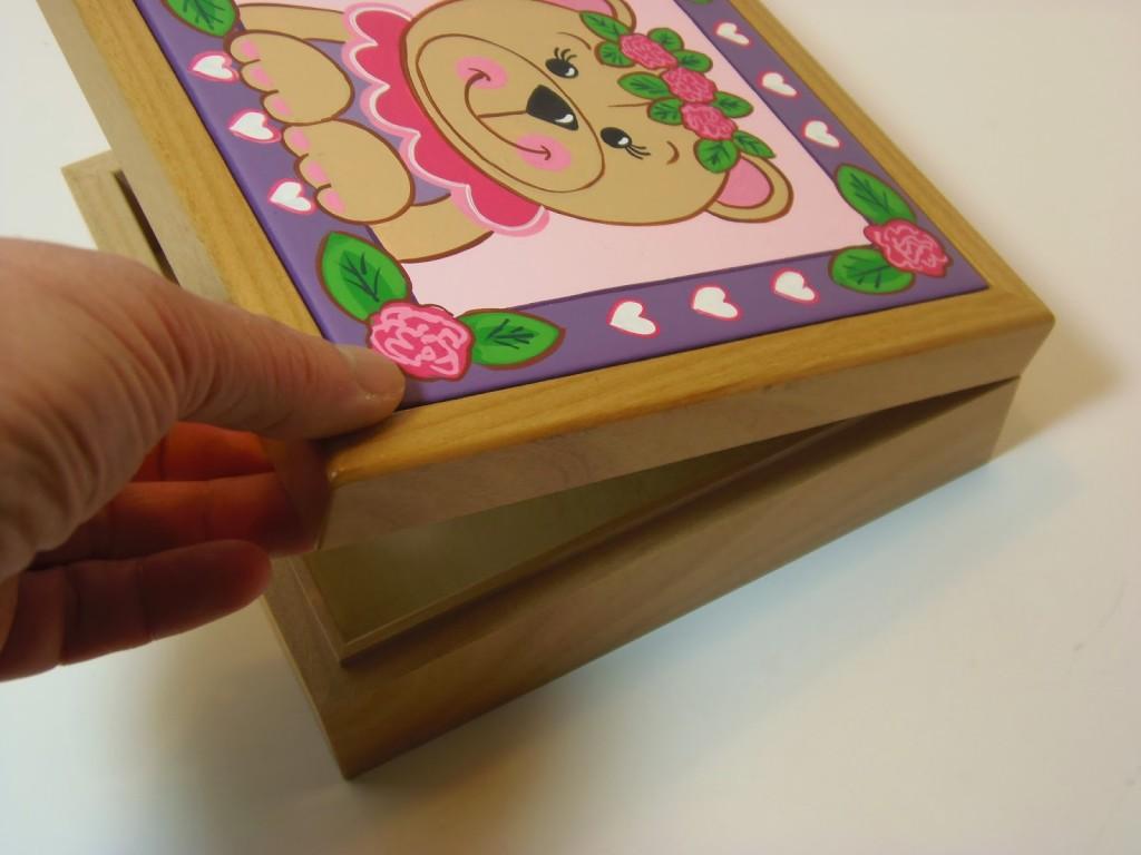 Beary Cute Little Girl Keepsake Box