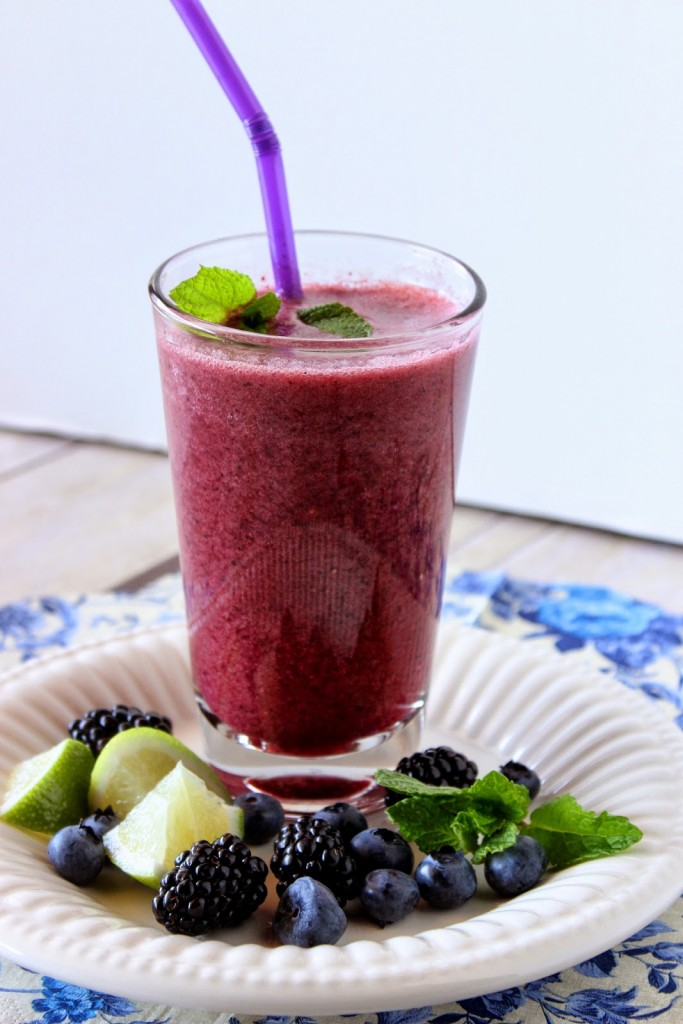 Blackberry, Blueberry and Mint Beauty Water Recipe via Kudos Kitchen By Renee