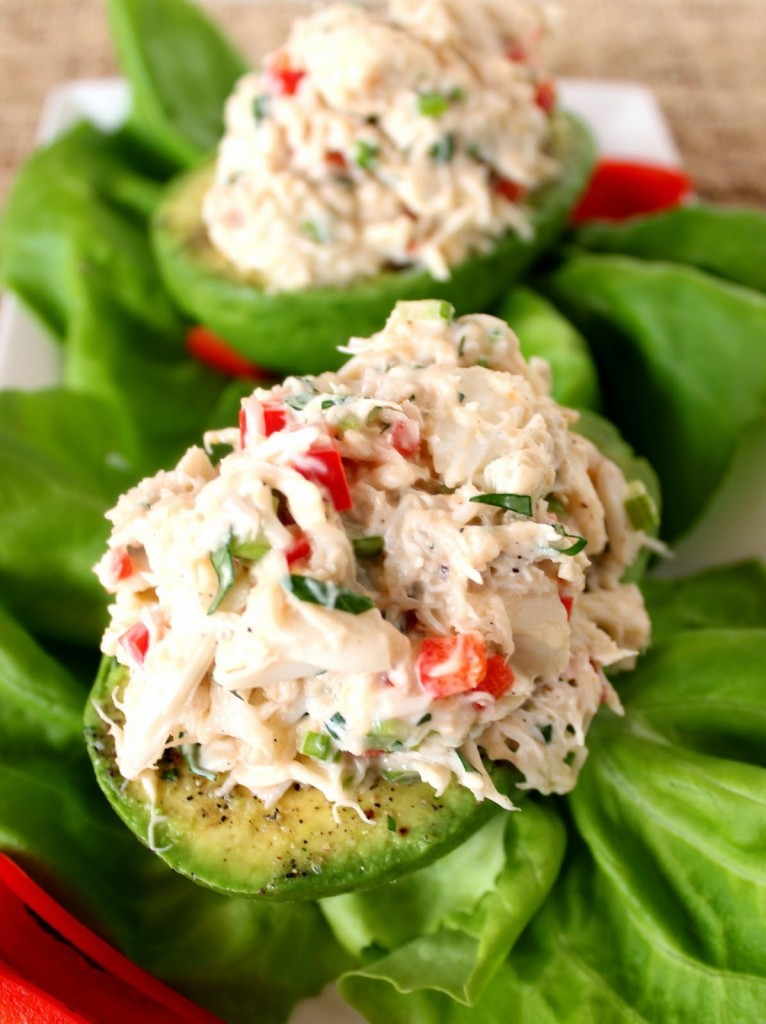 Crab Salad Stuffed Avocados Recipe - www.kudoskitchenbyrenee.com