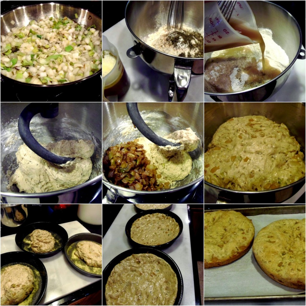 Caramelized Leek and Onion Focaccia Recipe via Kudos Kitchen by Renee