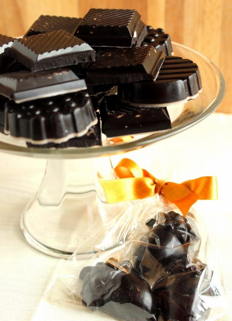 Delicious Dark Chocolate with Almonds Recipe via Kudos Kitchen by Renee