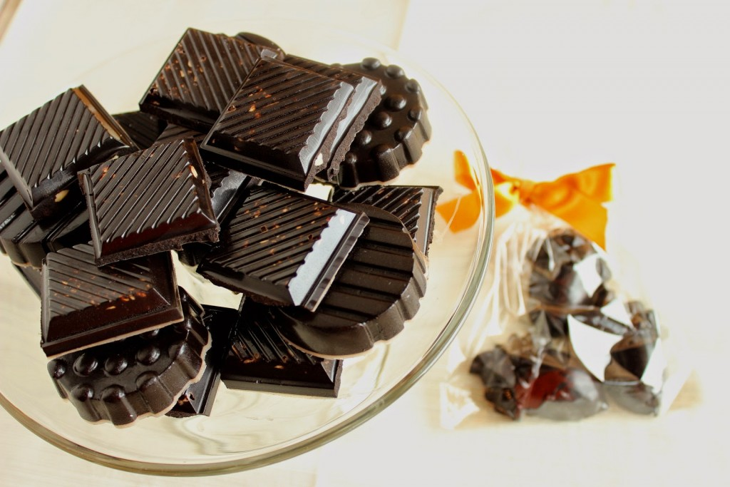 Dark Chocolate with Almonds Recipe via Kudos Kitchen by Renee