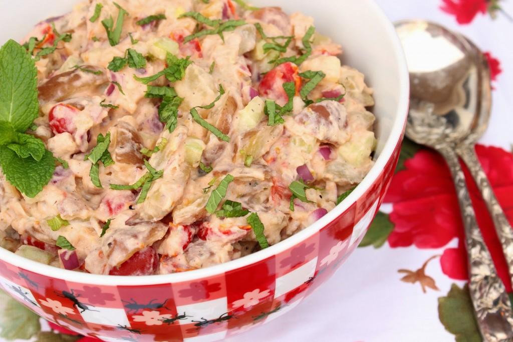 Tzatziki Potato Salad via Kudos Kitchen By Renee