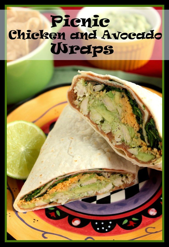 Chicken Avocado Wraps for on-the-go eating. - kudoskitchenbyrenee.com