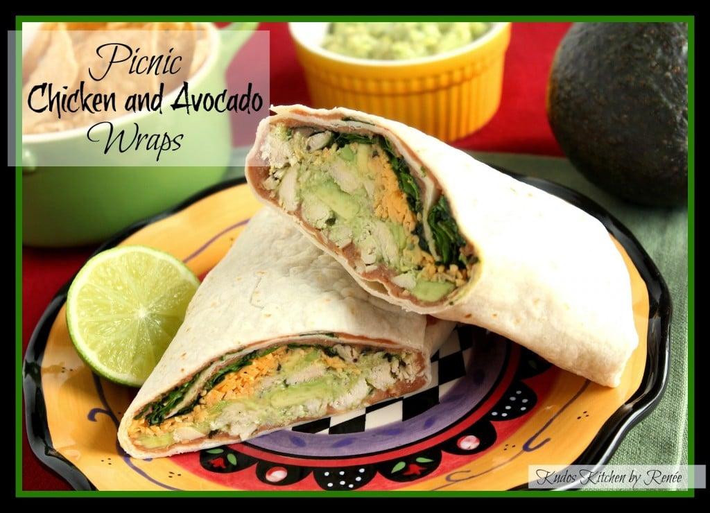 Picnic Chicken and Avocado Wraps Recipe - kudoskitchenbyrenee.com