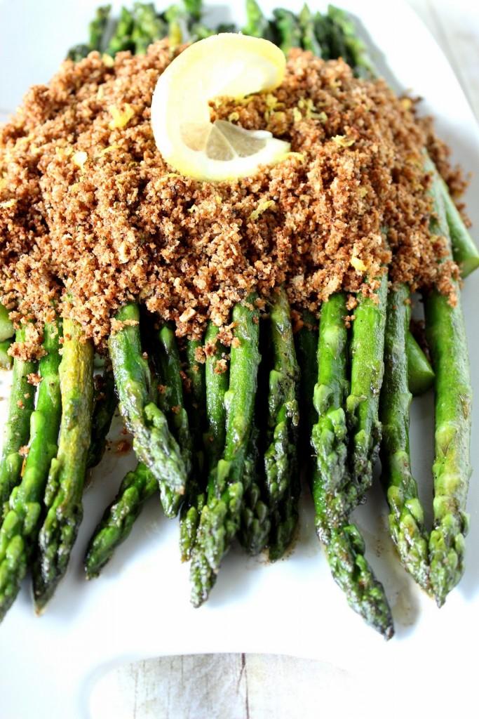 Asparagus with Seasoned Breadcrumbs