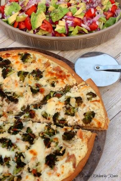 Chicken Broccoli Alfredo Pizza Recipe