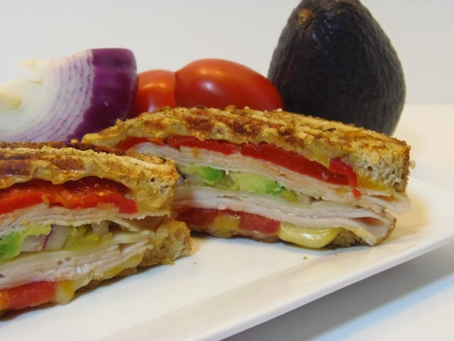 How to make Southwestern Turkey and Chicken Panini via kudoskitchenbyrenee.com