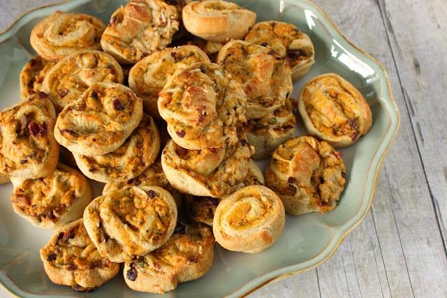 Pumpkin and Sage Pinwheel Appetizers / kudoskitchenbyrenee.com