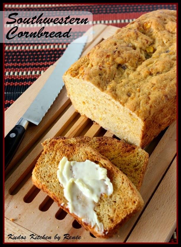 Southwestern Cornbread Recipe via kudoskitchenbyrenee.com