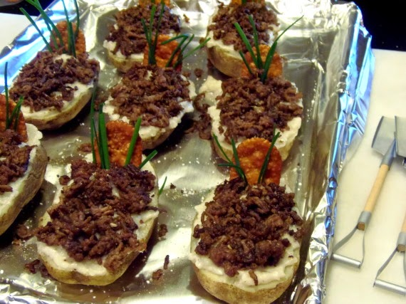 How to make Twice Baked Idaho® Potato Graves / www.kudoskitchenbyrenee.com