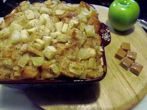 Caramel Apple Bread Pudding via Kudos Kitchen by Renee