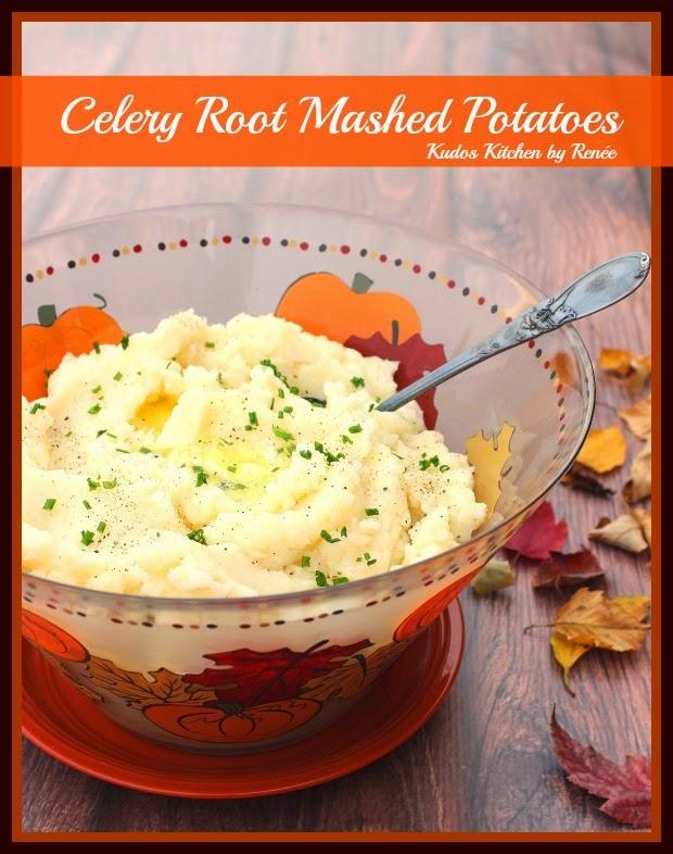 Celery Root Mashed Potatoes Recipe / www.kudoskitchenbyrenee.com