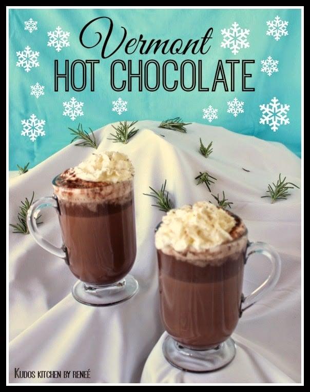 Vermont Hot Chocolate Recipe / www.kudoskitchenbyrenee.com