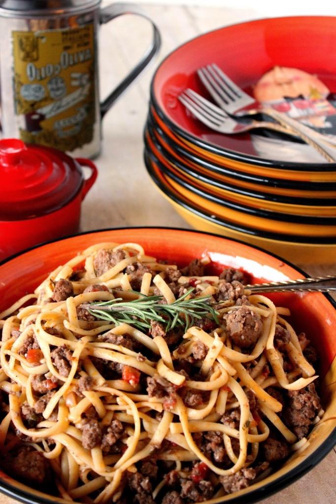 Lamb Linguine with Rosemary Recipe