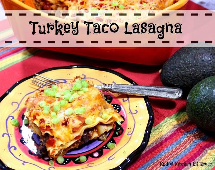 Healthy Turkey Taco Lasagna