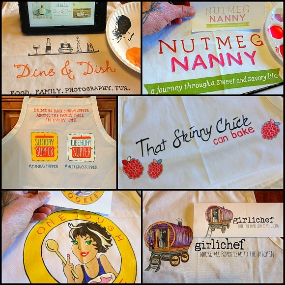 Hand Painted Food Blogger Aprons