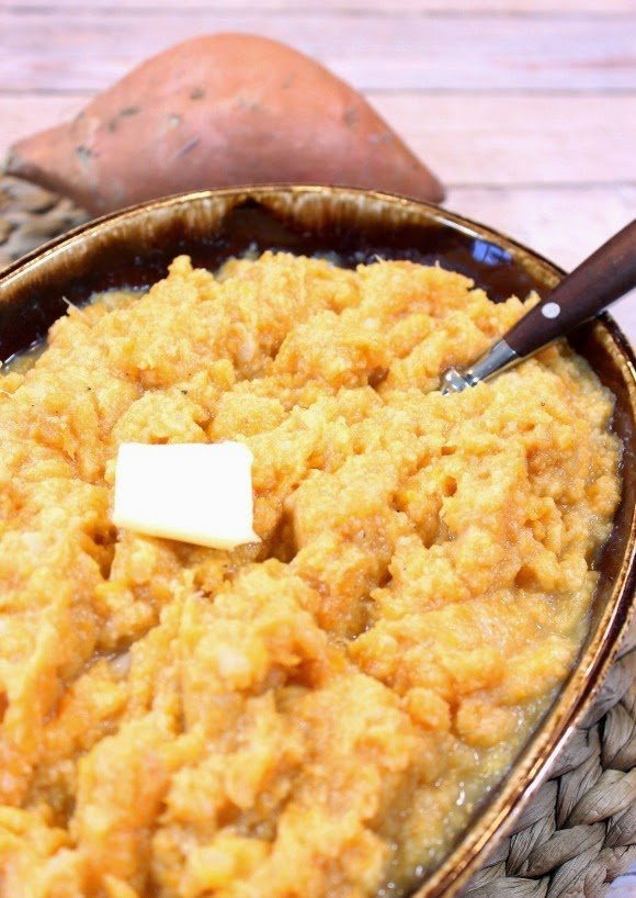 Cauliflower and Sweet Potato Mashers - www.kudoskitchenbyrenee.com