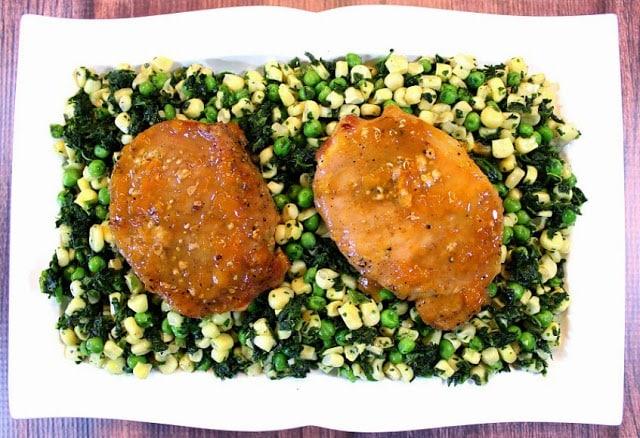 Five Ingredient Apricot Mustard Glazed Pork Chops
