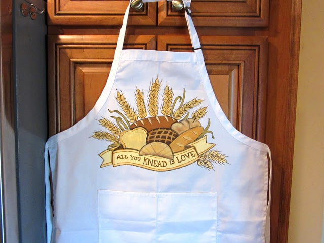 Bread Bakers Hand Painted Apron
