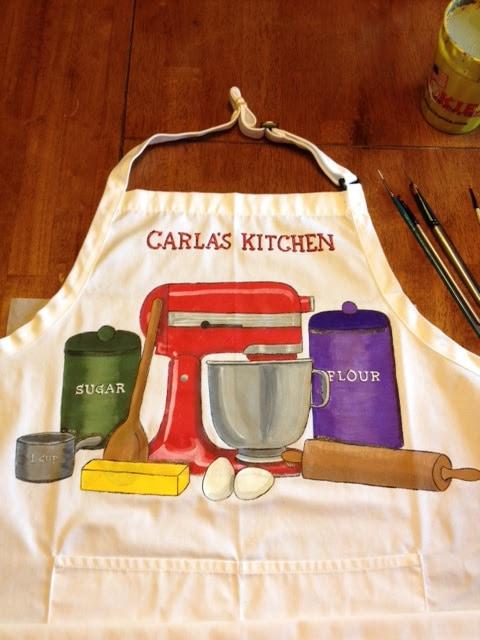 Personalized Painted Baking Apron - kudoskitchenbyrenee.com