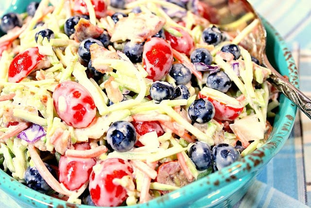 Broccoli Blueberry Slaw with Bacon
