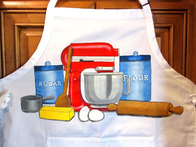 Bakers Hand Painted Apron