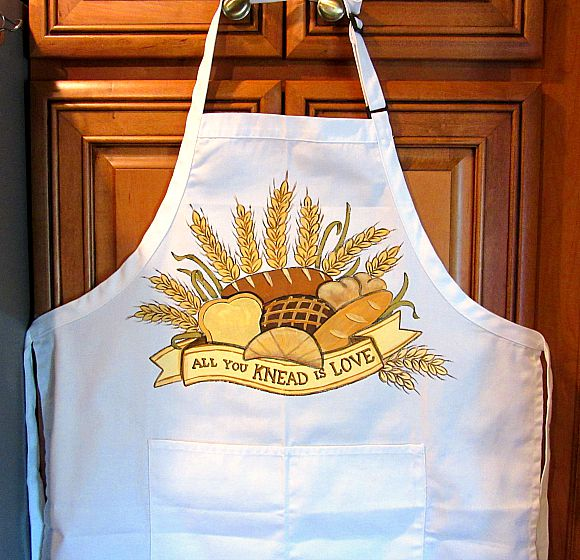 All You KNEAD is LOVE hand painted bread bakers apron