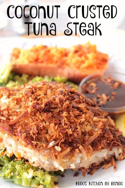 Coconut Crusted Tuna Steak