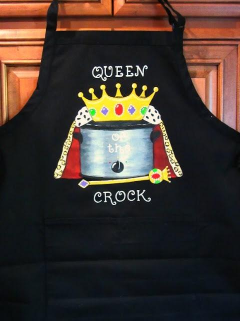 Crock Pot Hand Painted Apron