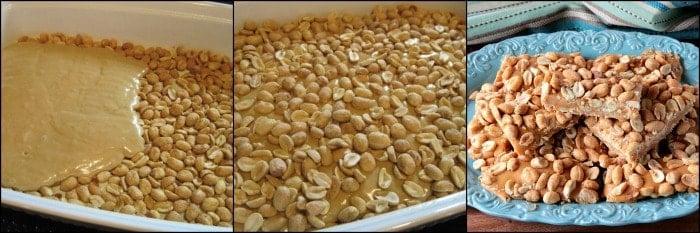 How to make Copycat Payday Candy Bars Photo Tutorial - kudoskitchenbyrenee.com