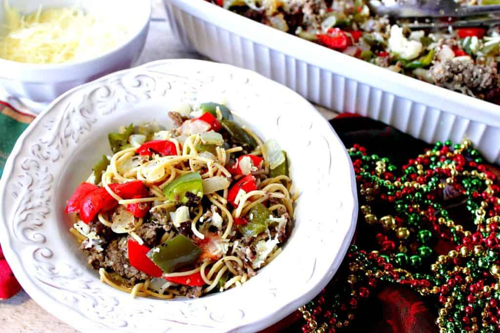 This recipe for Christmas Pasta with Red & Green Bell Peppers has proven to be a winner in our home every Christmas season, and I trust it will be a winner in your home, too. - kudoskitchenbyrenee.com