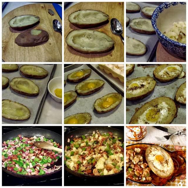 Eggs In Potato Boats Breakfast Recips
