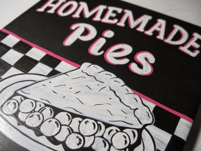 Homemade Pie Painted Ceramic Tile