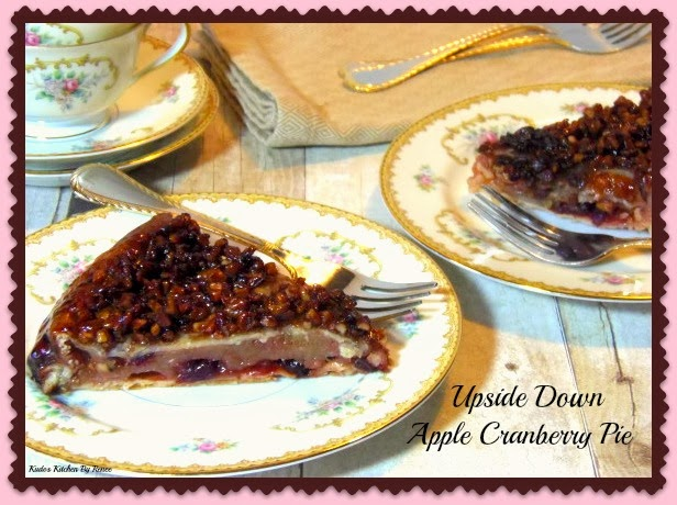 Upside Down Apple Cranberry Pie Recipe
