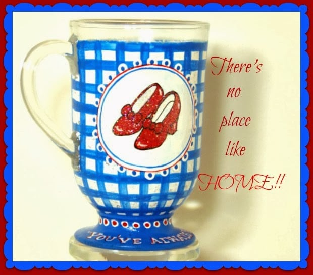 Ruby Red Slippes Painted Coffee Mug