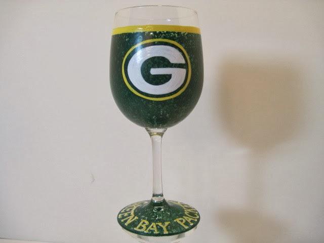 packers wine glass